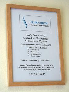 Clínica Rubén Ojeda: centro sanitario autorizado
